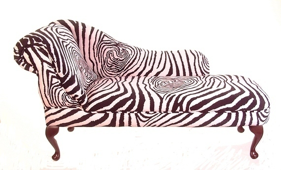 Chaise Longue in Zebra Print Fabric  sc 1 st  The UKu0027s Cheapest Metal Headboards Upholstered Headboards Metal ... : zebra print chaise - Sectionals, Sofas & Couches