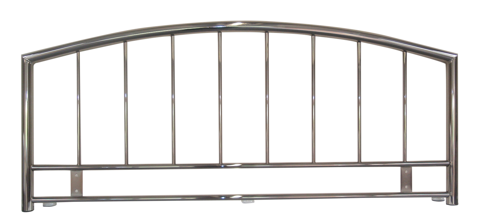 Metal Kingsize Headboard in Smoked Chrome Finish Crystals NEW